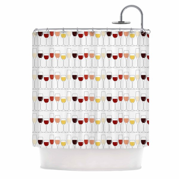 KESS InHouse Kess Original Fine Wines Red Purple Shower Curtain (69x70)