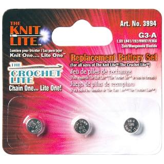Crochet Lite Replacement Batteries-3/Pkg