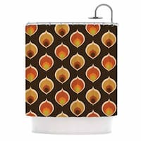 KESS InHouse Kess Original Peacock Vintage Orange Yellow Shower Curtain (69x70)