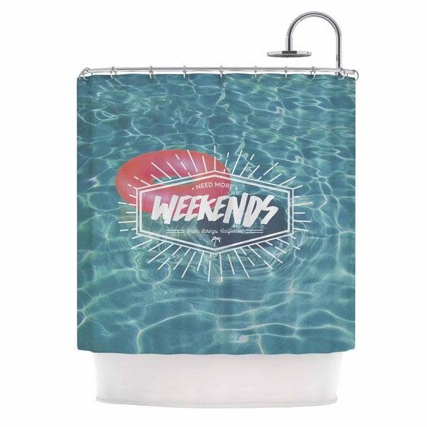 KESS InHouse Kess Original More Weekends Teal Pink Shower Curtain (69x70)