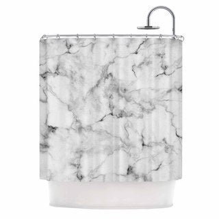KESS InHouse Kess Original White Marble Gray White Shower Curtain (69x70)
