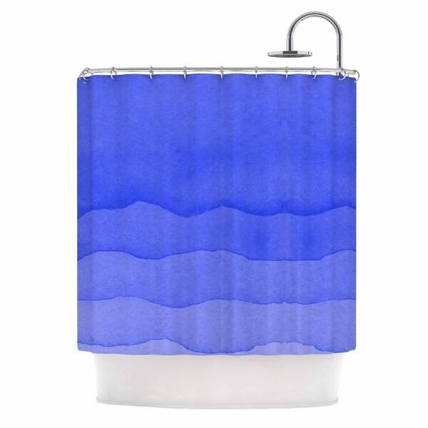 KESS InHouse Kess Original Ombre Berry Blue Digital Shower Curtain (69x70)