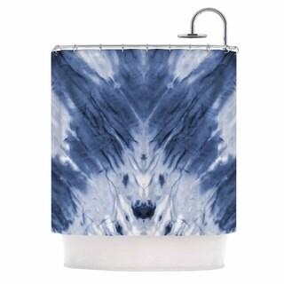 KESS InHouse Kess Original Blue Dye White Pattern Shower Curtain (69x70)