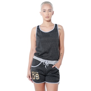 Special One Women's Active Whole Body Melange Romper (Option: Black)