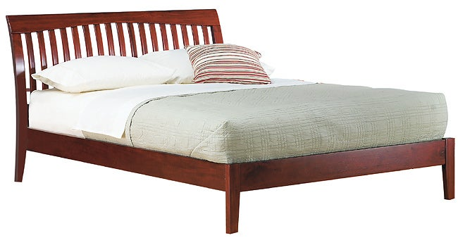 Contemporary Shaker California King-size Platform Bed