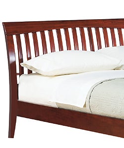 Contemporary Shaker California King-size Platform Bed - Thumbnail 1