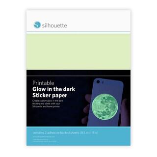 "Silhouette Printable Sticker Paper 8.5""X11"" 2/Pkg"