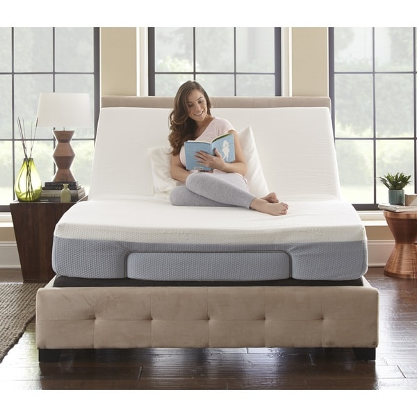 shop sleep sync queen adjustable mattress base i free shipping today 15076237. Black Bedroom Furniture Sets. Home Design Ideas