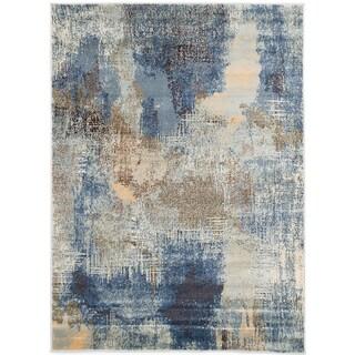 ecarpetgallery Birtin Blue Rug (5'3 x 7'3)