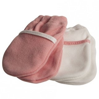 Safety 1st Pink No-Scratch Mittens (2 Pairs)