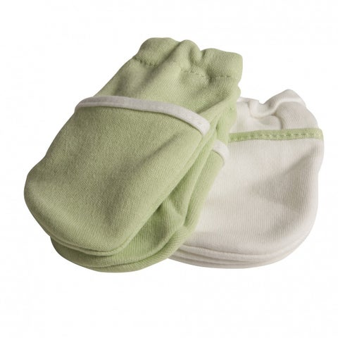 Safety 1st Green No-Scratch Mittens (2 Pairs)