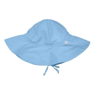 iPlay Unisex Newbown 0 to 6 months Solid Blue Brim Sun Protection Hat