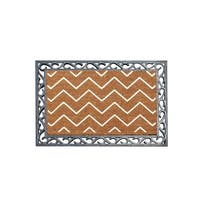 A1HC First Impression Rosway Chevron 24 in. X 36 in. Rubber and Coir FLOCKED Door Mat