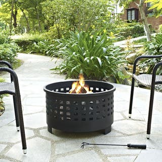 Hudson Basket Weave Firepit in Black|https://ak1.ostkcdn.com/images/products/15076691/P21566755.jpg?impolicy=medium