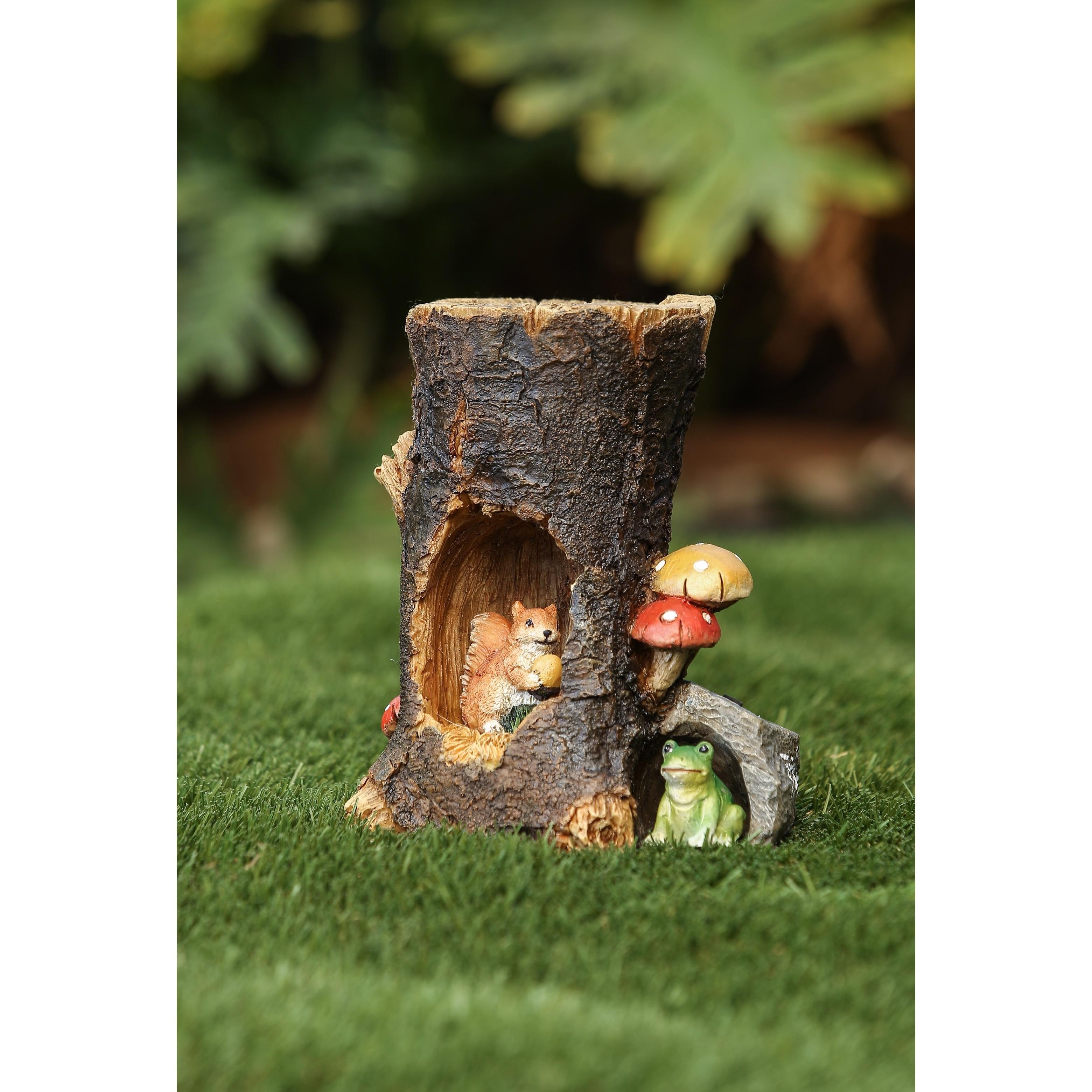 Winsome House Solar Woodland Animals Miniature Fairy Gard...