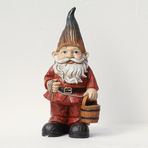 Shop Winsome House Gnome With Bucket Free Shipping On