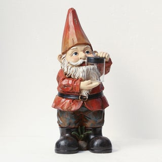 Winsome House Gnome with Solar Light Jar