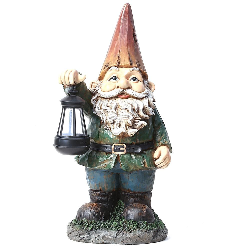 Holding Hearts Loving Garden Gnomes Statue Solar LED Light Yard Valentine/'s Gift