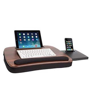 Sofia + Sam Multitasking Wood Top Memory Foam Lap Desk