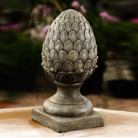14.2in. Copper Bronze Artichoke Finial