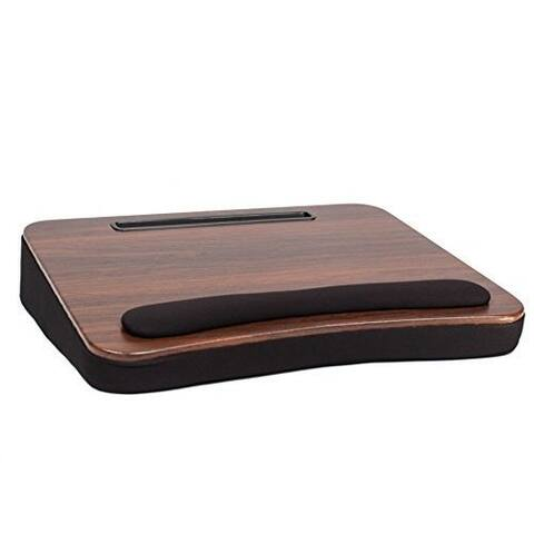 Sofia + Sam All Purpose Memory Foam Lap Desk (Wood Top) with Tablet Slot