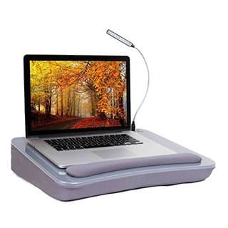 Sofia + Sam Lap Desk with USB Light (Silver)