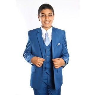 Tazio Boy's 5-piece Indigo Suit