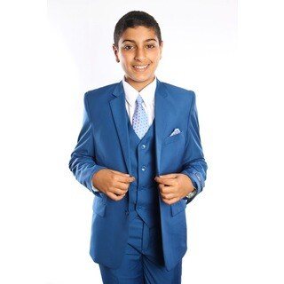Tazio Boy's 5-piece Indigo Suit (More options available)