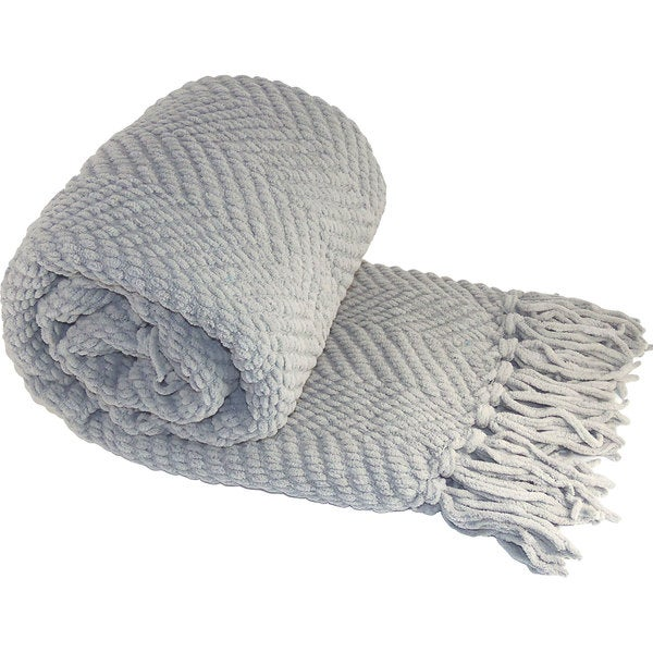 Boon Jumbo Knitted Tweed Oversized Throw