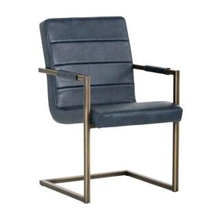 Sunpan Jafar Vintage Blue Armchair - Medium