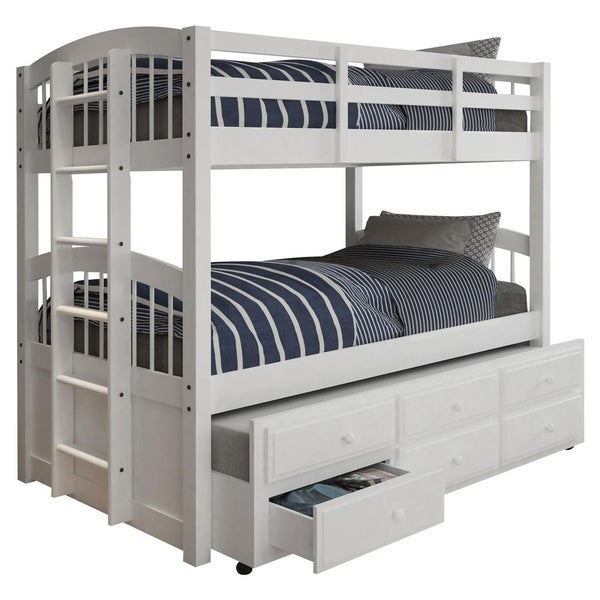 Acme Furniture Micah White Twin-over-twin Bunk Bed with 3-drawer Trundle. Opens flyout.