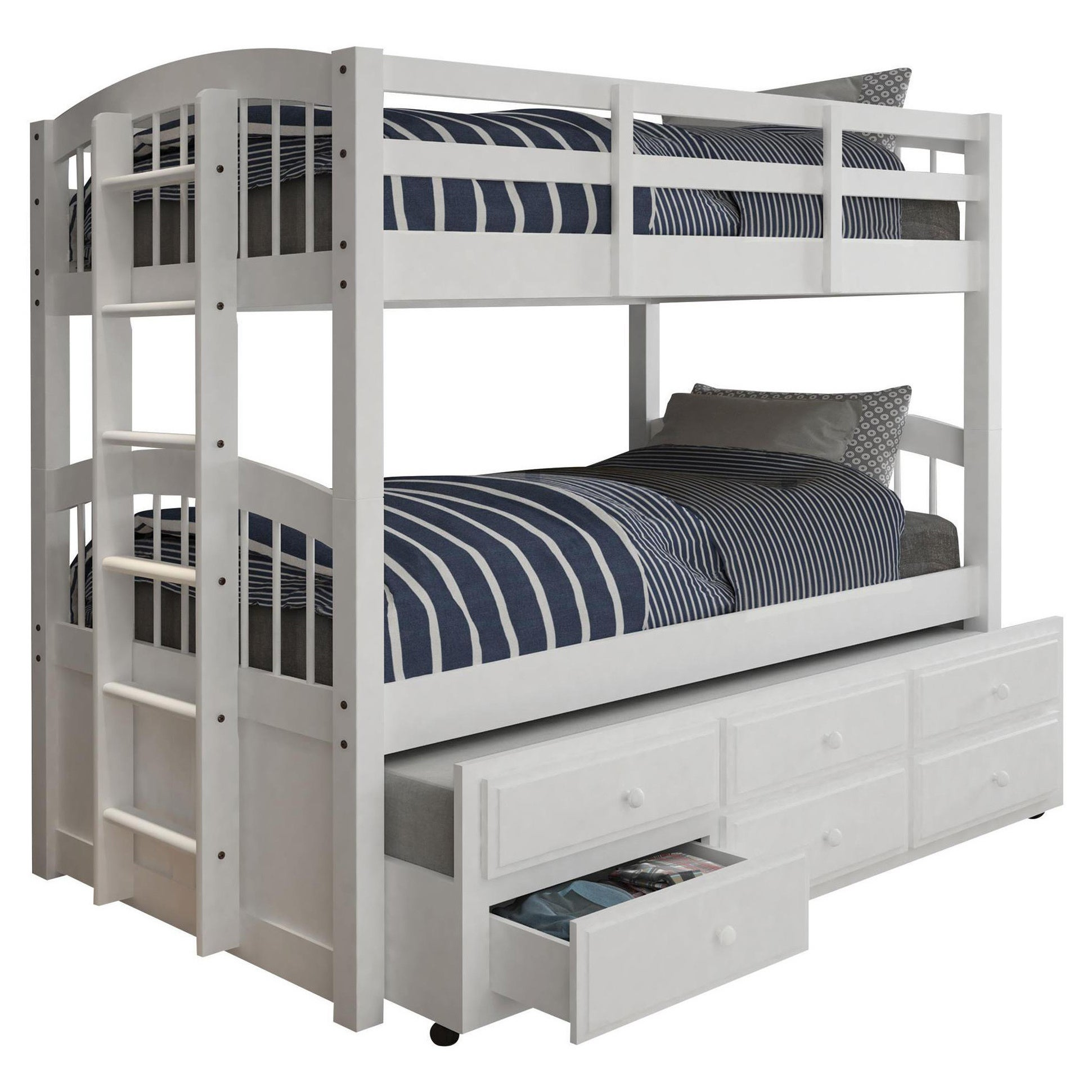 Acme Furniture Micah White Twin-over-twin Bunk Bed with 3...