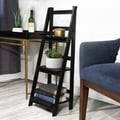 Jia Home Espresso Wood Folding 3-tier Ladder Display Shelf