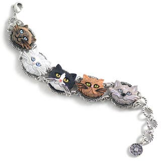 Sweet Romance Cat Lovers Bracelet|https://ak1.ostkcdn.com/images/products/15076989/P21567037.jpg?impolicy=medium