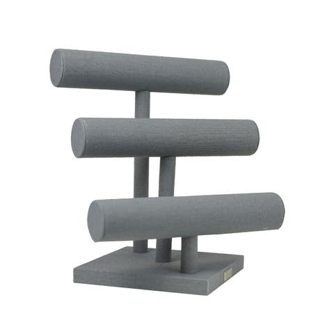 Grey 3-Tier Bracelet Bar Jewelry Stand by Hives & Honey