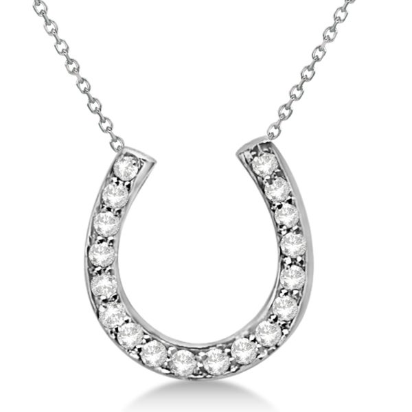 Shop 14k Gold 0 25ct Ladies Diamond Horseshoe Pendant Necklace In Free Shipping Today Overstock 15077879