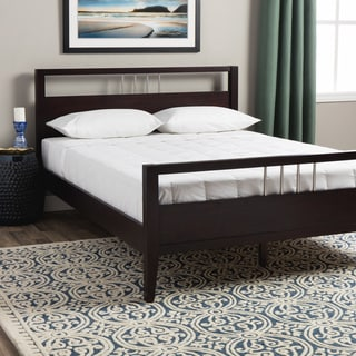 Chrome Accented Queen-size Platform Bed