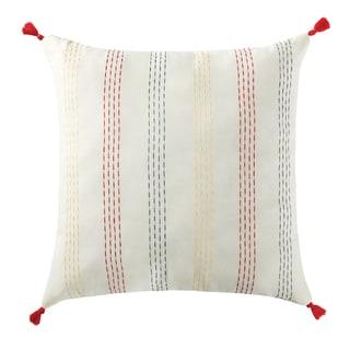 "Antik Batik Margo 20"" x 20"" Tassel Throw Pillow"