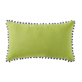 "Antik Batik Thia 12"" x 20"" Pom Pom Throw Pillow"