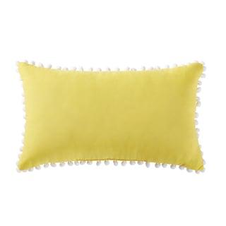 """Antik Batik Indigo 12"""" x 20"""" Pom Pom Throw Pillow"""