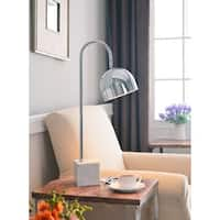 Hardliner 28-inch Chrome and Marble Desk Lamp