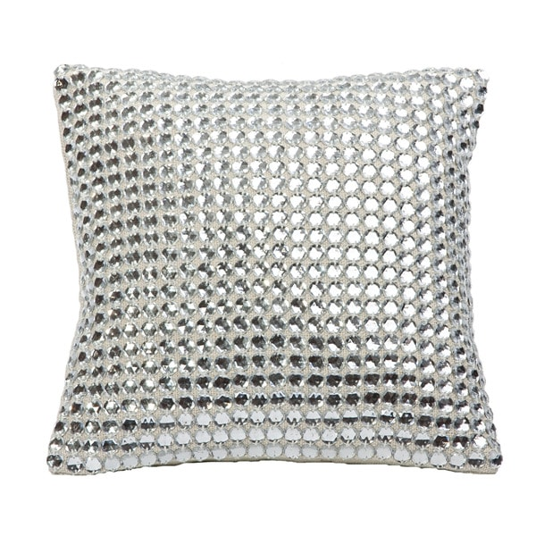 Shop Mirror Linen Down Filled Throw Pillow Free Shipping