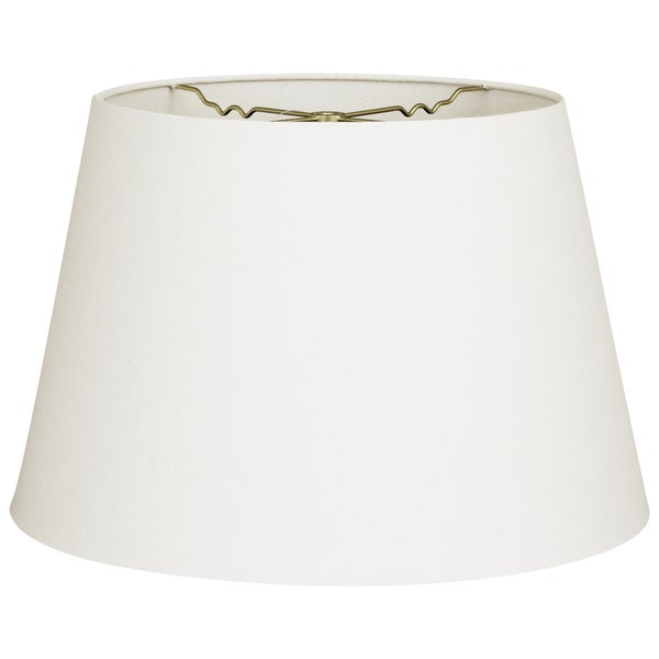 Royal Designs Linen White 9.5-inch x 14-inch x 9.5-inch Tapered Shallow Drum Hardback Lampshade