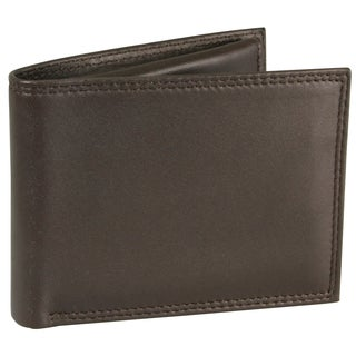 Buxton Leather Emblem Double ID Billfold Wallet