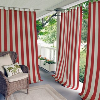 Elrene Highland Stripe Indoor/Outdoor Curtain Panel (More options available)