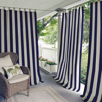 Elrene Highland Stripe Indoor/Outdoor Curtain Panel