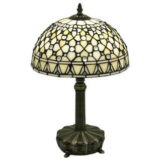 Tiffany-style White Jewel Lamp