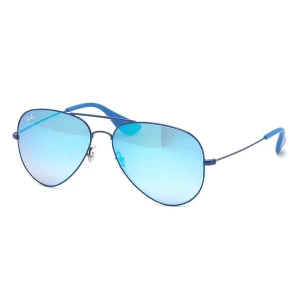 94e9b0b317336 Ray-Ban RB3558 9016B7 Unisex Blue Frame Blue Gradient Flash Lens Sunglasses