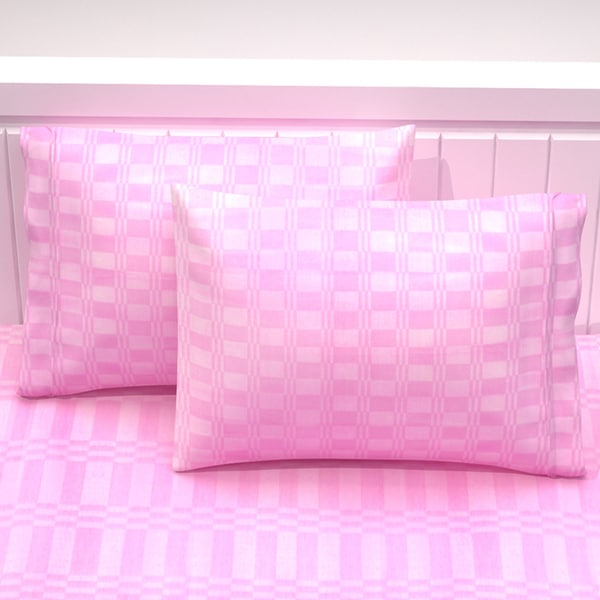 Design Plaid Cotton 2 Pillowcase Set
