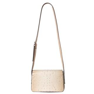 Diophy Solid Crocodile Pattern Small Crossbody Handbag (Option: Beige)